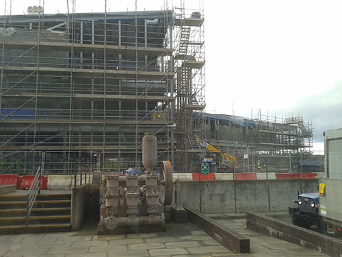 Building work continues apace at the National Museums Collection Centre