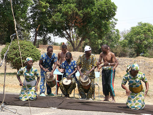 Traditional musicians and dancers at the opening event