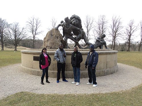 Museums of Malawi staff at the David Livingstone Centre, Blantyre.