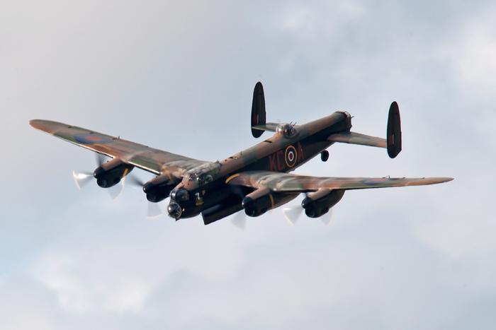 RAF Battle of Britain Memorial Flight Avro Lancaster Bomber.