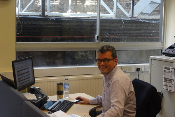Tim in the Office, National Museum of Scotland