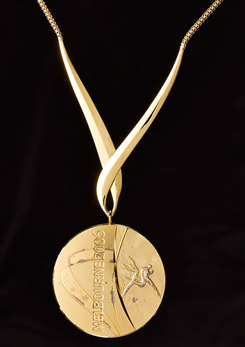 Gold medal won by cyclist Sir Chris Hoy at the 2006 Commonwealth Games in Melbourne