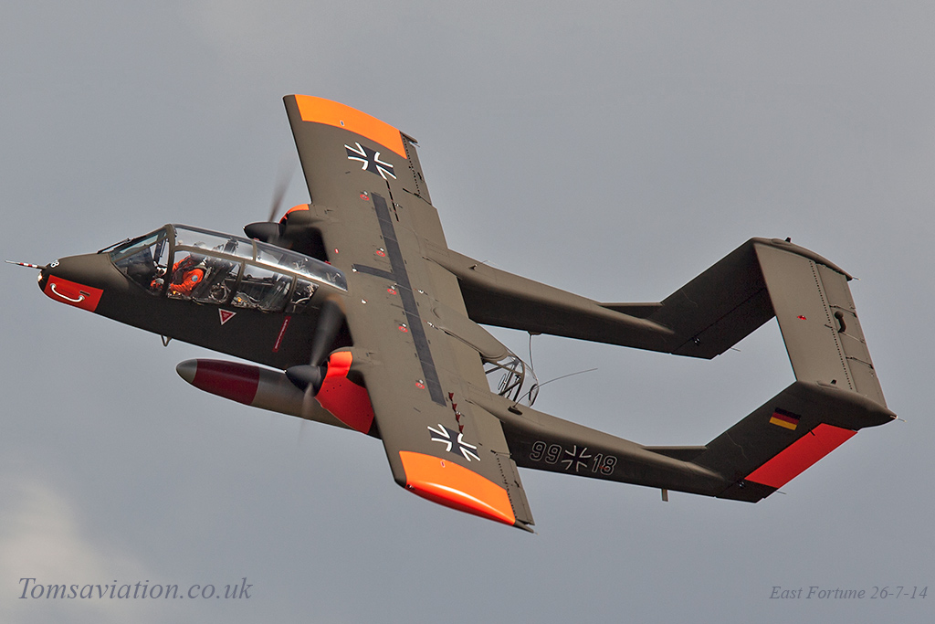 OV 10 Bronco at Scotland's National Airshow on Saturday 26 July 2014 © Tom Sunley
