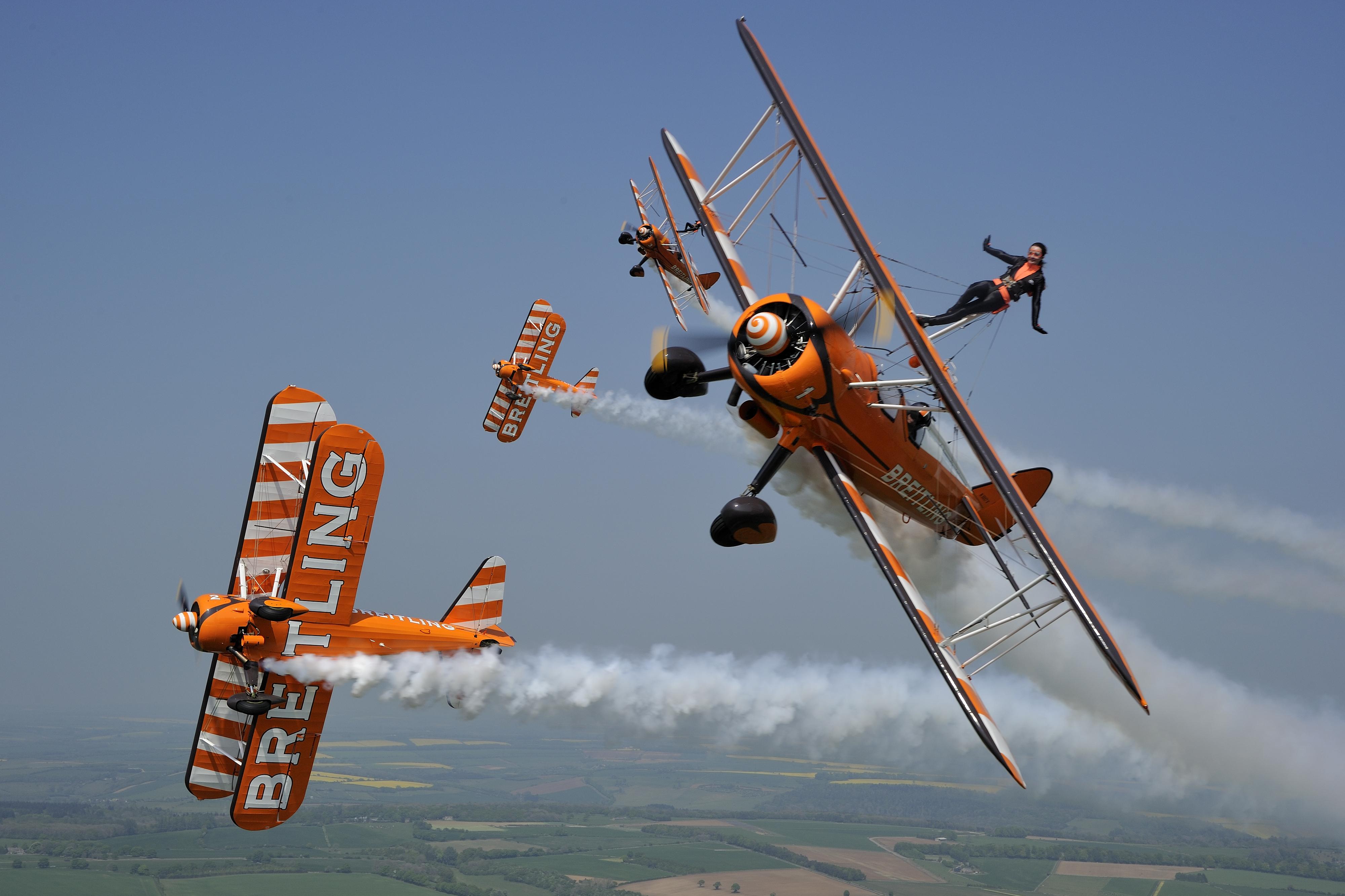 The Breilting Wingwalkers aerobatic display team © Tokunaga