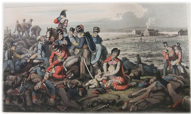 One of a series of prints illustrating Walter Scott's description of the battle.