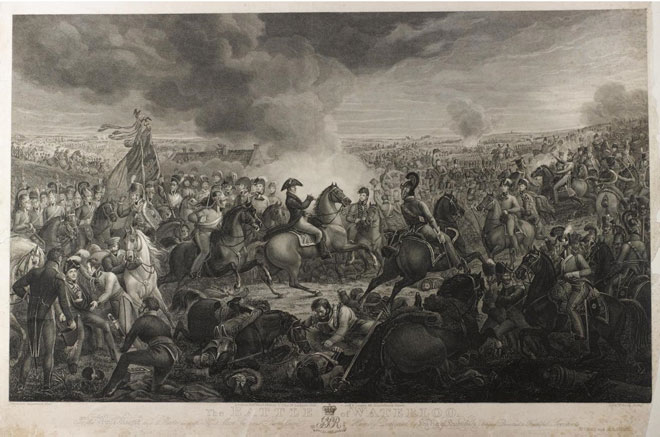 1819 print of the battle, after the painting by Alexander Sauerweid.