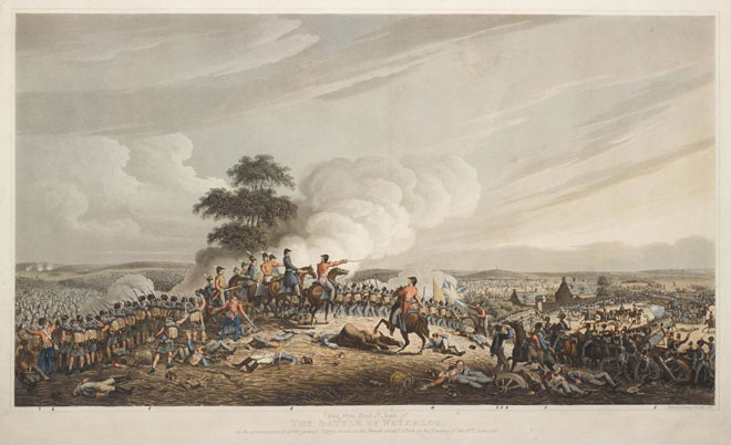 1816 print of the battle by Robert Bowyer