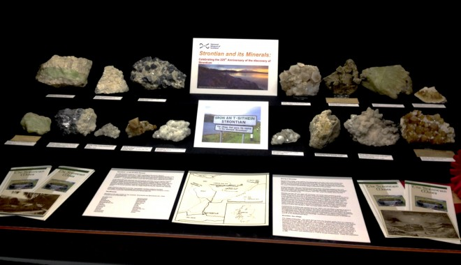 Pete's display on Strontian minerals