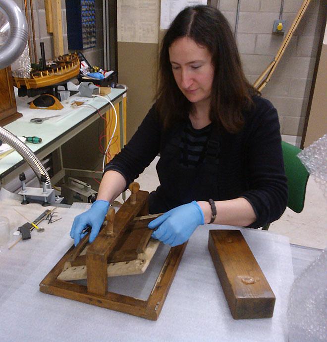 Conservation of Talbot's printing frame