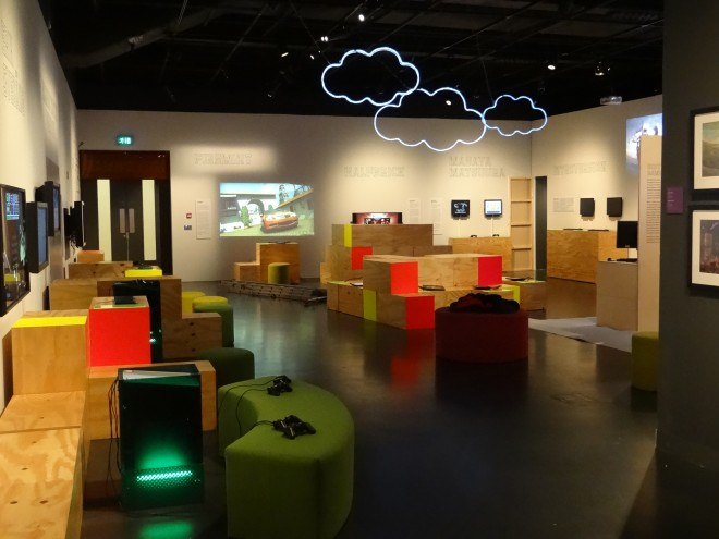 Above: The Game Masters exhibition at National Museum of Scotland