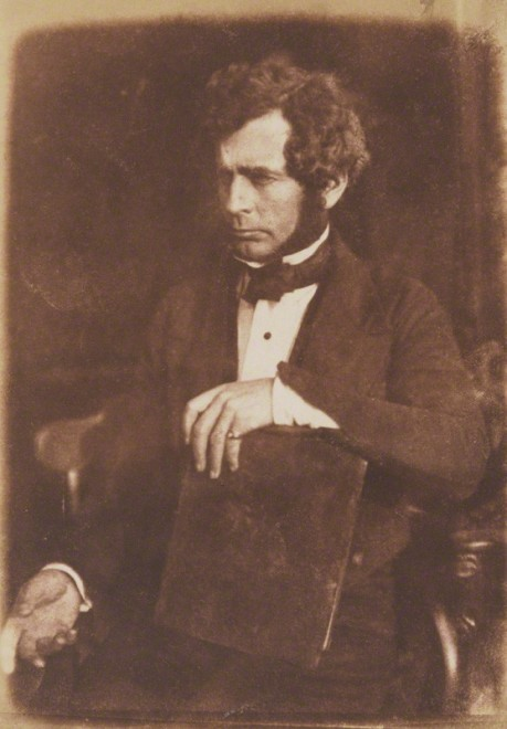 Above: George Buist, the first man to investigate the Norrie's Law hoard. Calotype by David Octavius Hill, and Robert Adamson, 1845. National Portrait Gallery