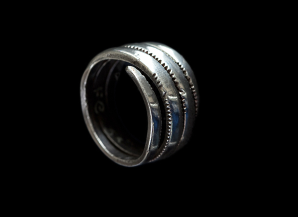 A spiral finger ring from the Norrie's Law hoard