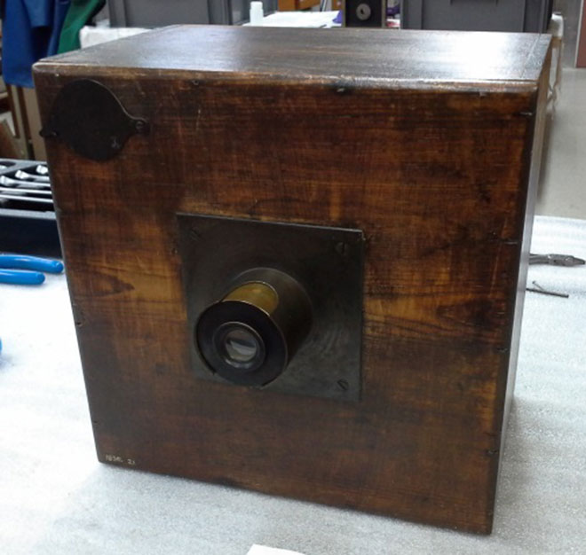 One of Talbot's early calotype cameras.