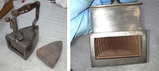 Domestic iron used by Talbot