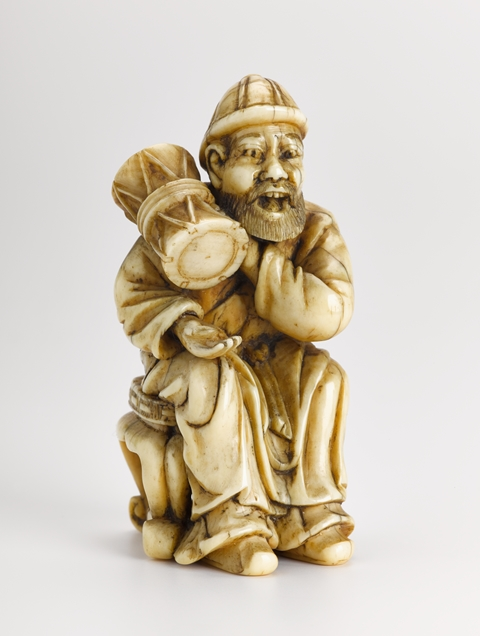 Netsuke.  Many of these were photographed when they were off display for the museum closure, there are many to choose from but I like this jolly fellow.