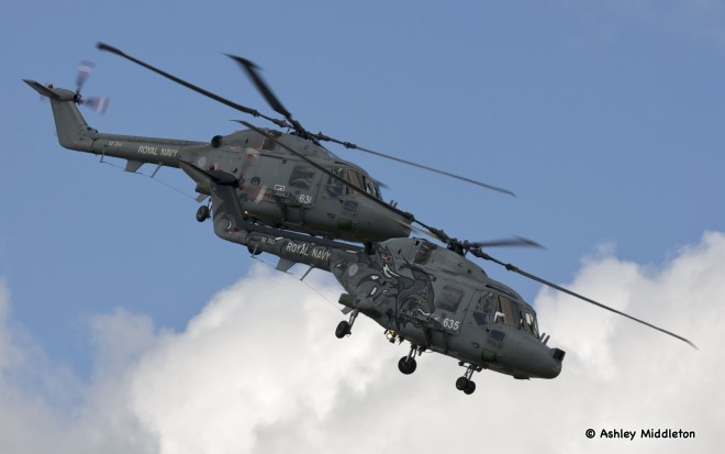 Royal Navy Black Cats helicopter display team © Ashley Middleton