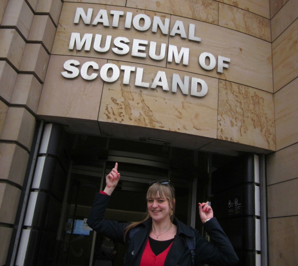 Anna Mosig at the National Museum of Scotland