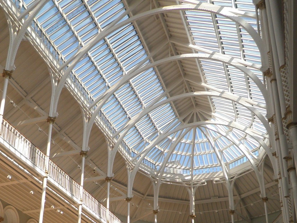 the Roof of the Grand Gallery at the National Museum of Scotland