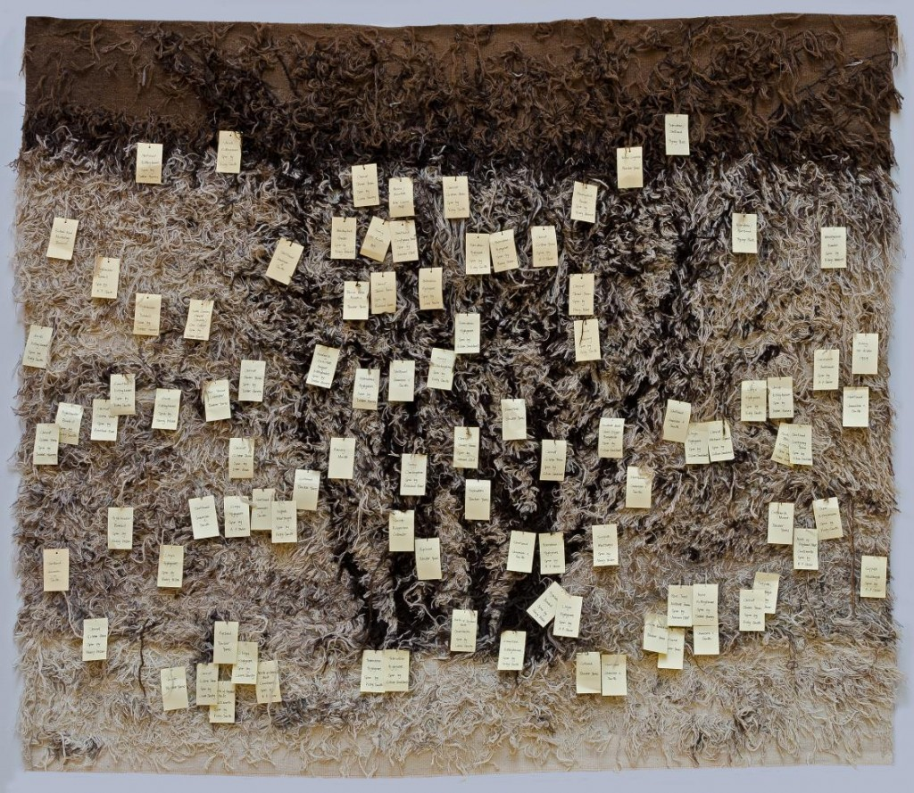 Large Tree Group Tapestry, reverse, Dovecot Studios, Edinburgh, Michael Wolchover 2013
