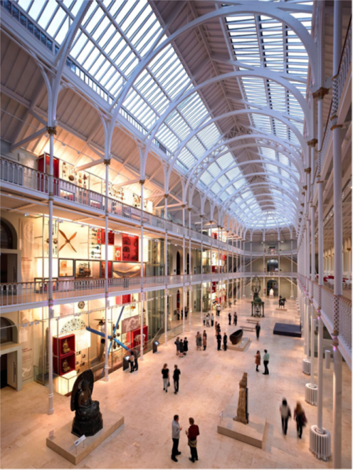 The Grand Gallery of the National Museum of Scotland today.Image © Andrew Lee.