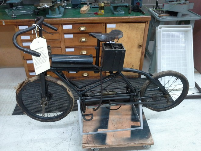 Holden Motor Bicycle before conservation