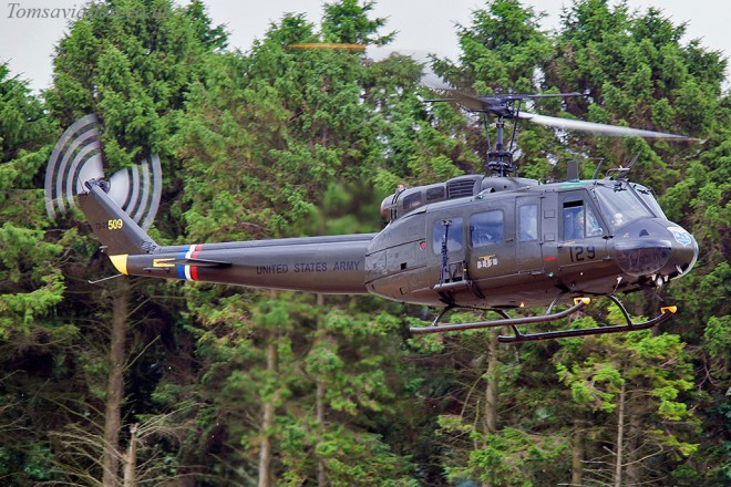 Huey helicopter on a returns to Scotland's National Airshow on Saturday 25 July 2015.
