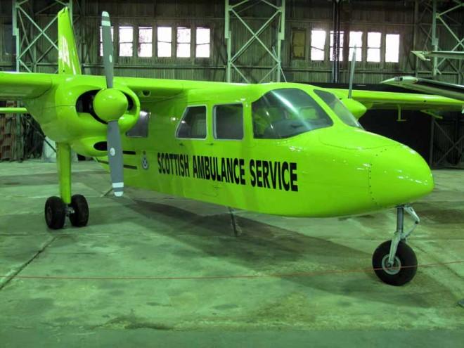 Britten Norman Islander G-BELF at National Museum of Flight, East Fortune Airfield