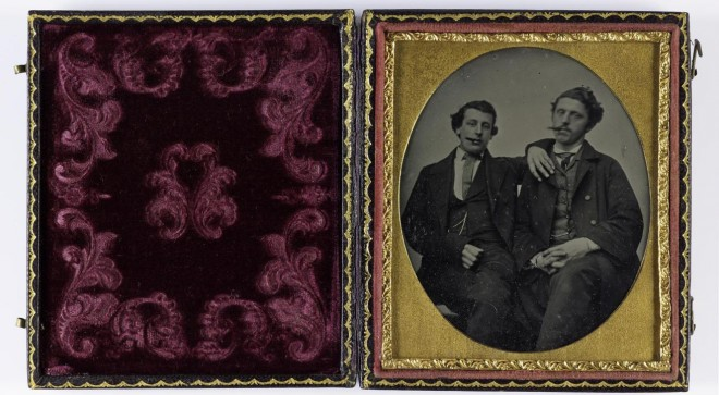 Ambrotype depicting two young men, 1850s-60s. From the Howarth-Loomes collection at National Museums Scotland.