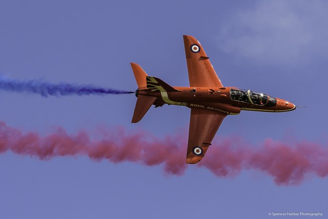 RAF Red Arrows Hawk jet at Scotland's National Airshow 2015 © Spencer Harbar Photography