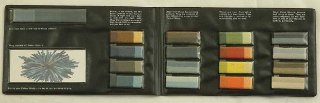 Personal Colour Guide for light blue eyes, 1965.