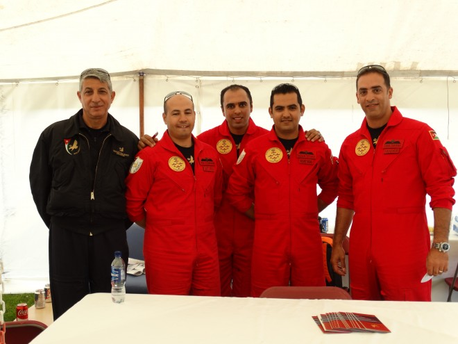 Meeting the Royal Jordania Falcons at Scotland's National Airshow 2015