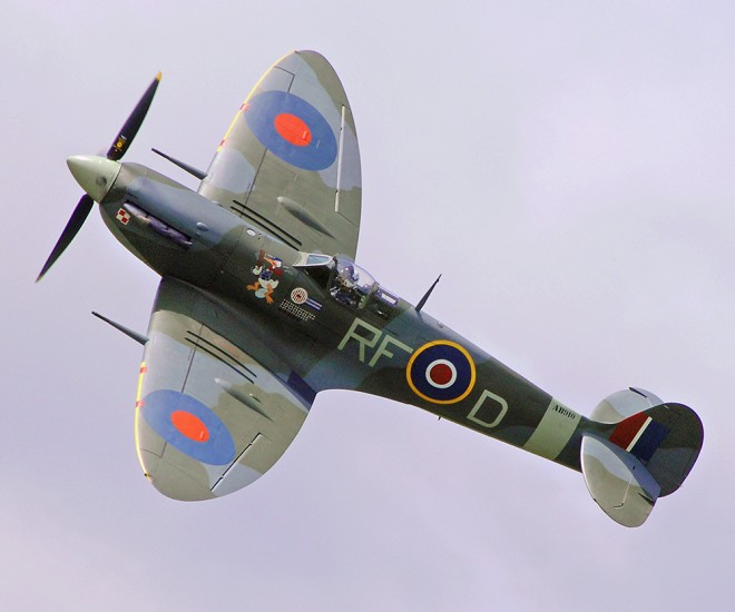 Spitfire from RAF Battle of Britain Memorial Flight   © MOD Crown Copyright