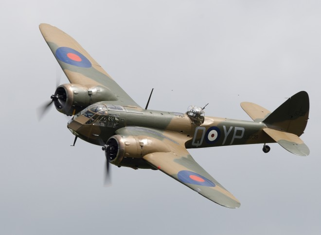 Bristol Blenheim Mk 1F will be flying at Scotland's National Airshow on Saturday 25 July 2015 © Tim Spouge