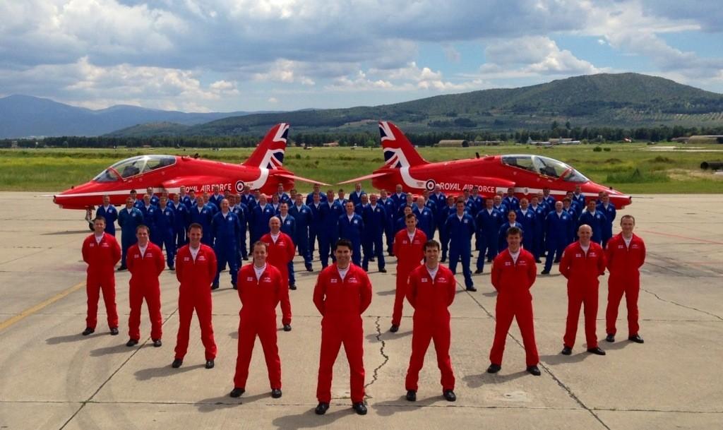 RAF Red Arrows team during Springhawk 2015 training in Cyprus © MOD Crown Copyright