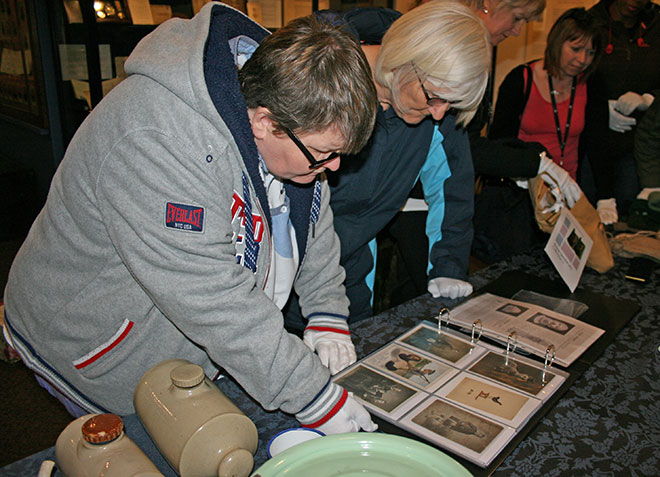 Annan ladies' group Sky's the Limit visiting the exhibition