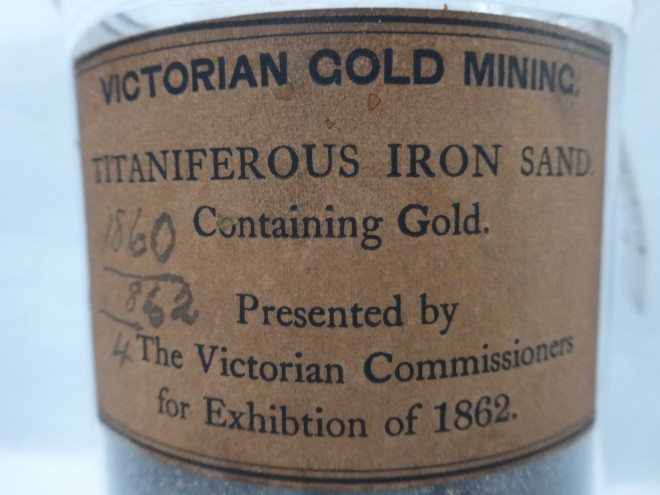 Label from a jar of Titaniferous Iron Sand from the International Exhibition of 1862.