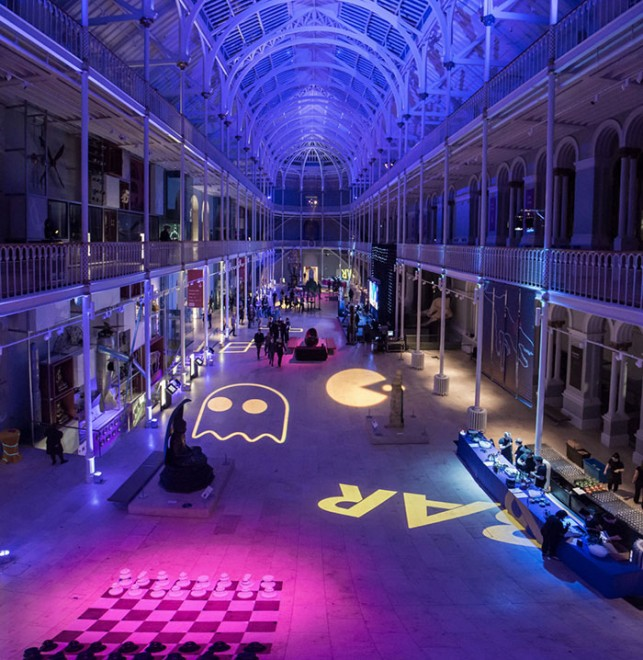 The Grand Gallery at night