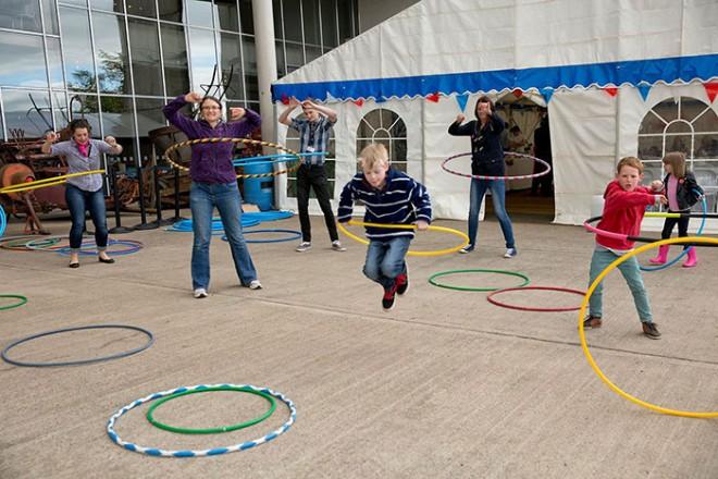 Hula hooping at Fabulous 50s at the National Museum of Rural Life