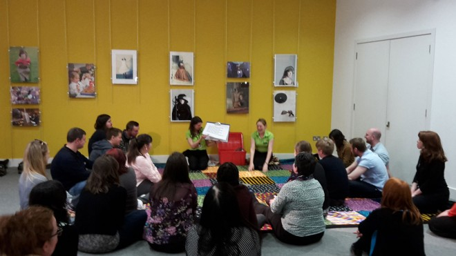The Learning and Programmes team demonstrate the popular Magic Carpet activity families