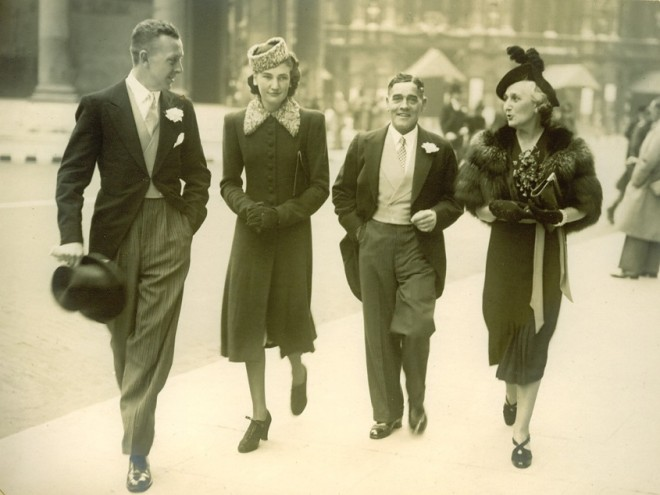 L-R: Unknown gentleman who may be Phil Maslen, Lola Jeffrey, Fred Hanley, May Jefrey