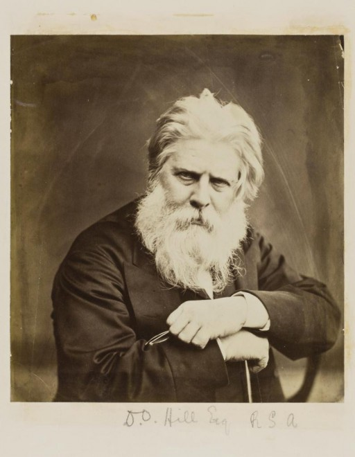 Calotype, albumen print from a wet collodion negative, David Octavius Hill, by Dr John Adamson, 1860