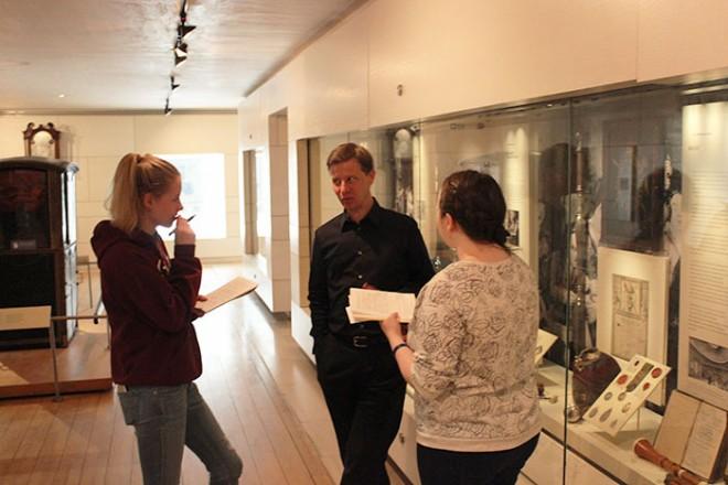 Young Demonstrators meeting Stephen Jackson, Senior Curator, Furniture and Woodwork