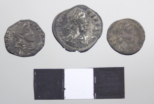 Some of the clipped Late Roman coins from Gaulcross