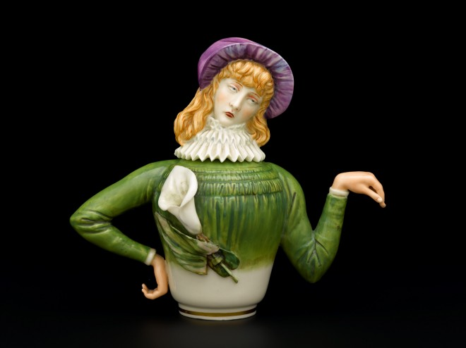 Aesthetic teapot by Royal Worcester, 1882