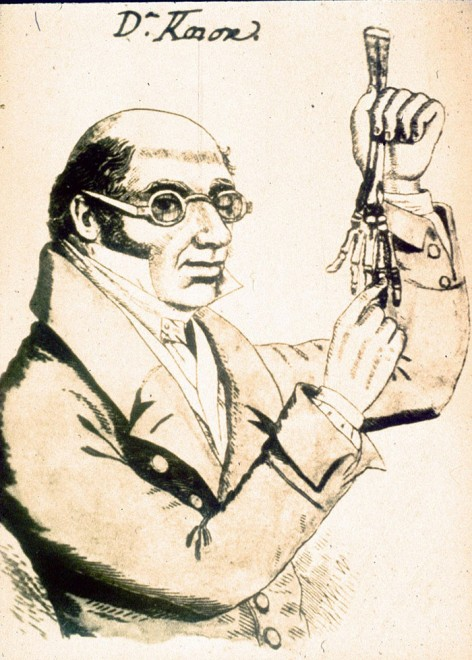 Caricature of Robert Knox © Surgeons' Hall Museums at the Royal College of Surgeons of Edinburgh