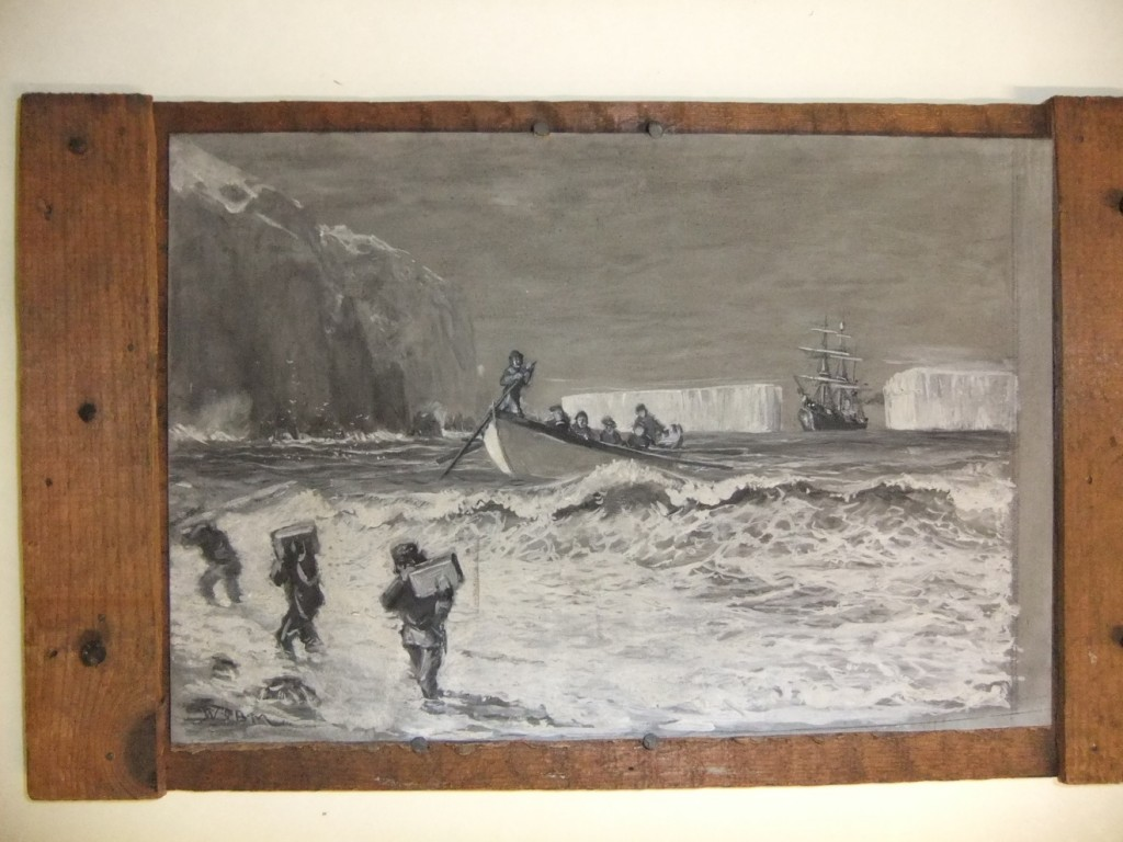 A painting thought to illustrate the Scotia Expedition by W.G.Burn Murdoch