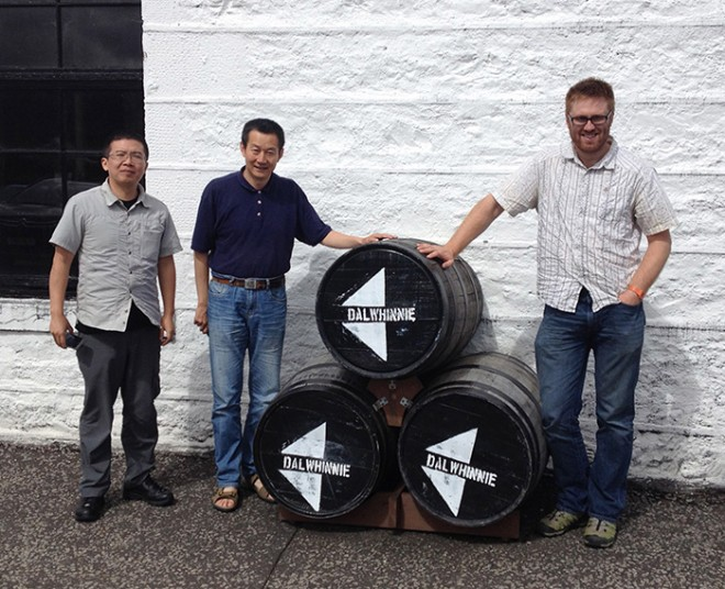At the Dalwhinnie distillery