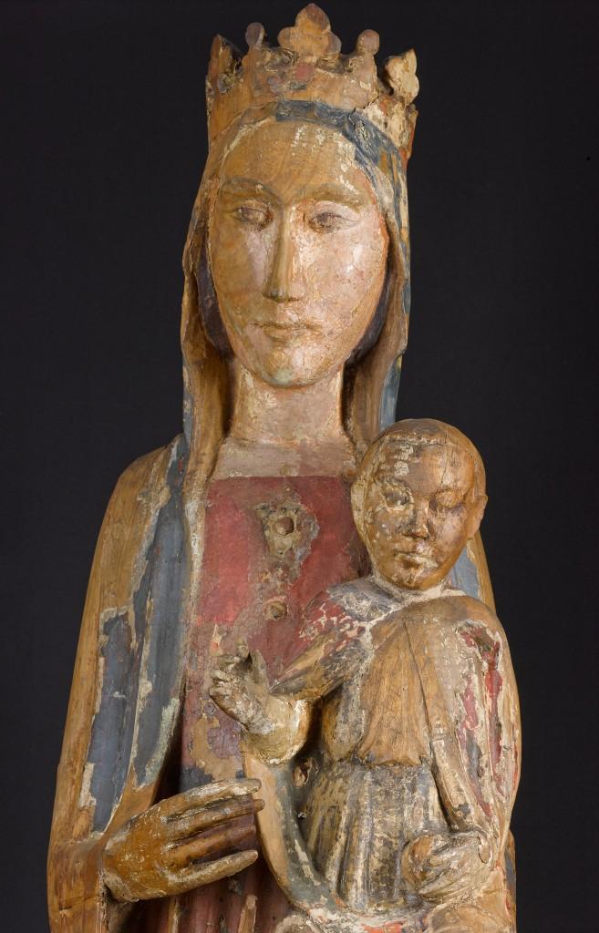 The Madonna prior to conservation began in September 2015