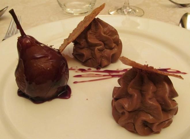 Diana's dessert - Turin is famous for hazelnut chocolate called gianduia