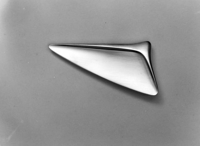 Silver brooch, designed and made by Henning Koppel for Georg Jensen. Denmark, c.1950.© Georg Jensen A/S